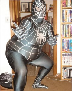 Spiders, spiders, spiders. . . Fat-spiderman-11-238x300